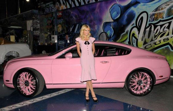 les stars en voiture une bentley continental gt pour paris hilton auto au feminin. Black Bedroom Furniture Sets. Home Design Ideas